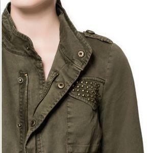 Zara studded cotton jacket